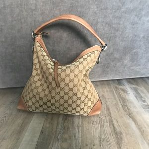 Gucci Original GG medium canvas hobo bag